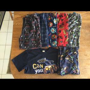 Boys Size XL 7-Piece Sleepwear Bundle